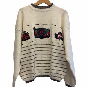 Men's Vintage Outdoor Fall Winter Knit Sweater Size Medium GUC